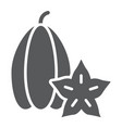 carambola glyph icon vitamin and food star fruit vector image vector image