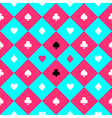 Card Suits Blue Pink Chess Board Diamond vector image vector image