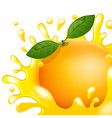 cartoon orange fresh apple juice vector image