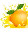 cartoon orange fresh apple juice vector image vector image