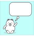 cartoon white bear character cute vector image