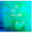 Colorful blue bokeh background vector image