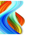 colorful flow poster wave liquid shape color vector image vector image