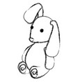Cute teddy rabbit icon