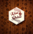 Cutout paper style on a wooden background vector image vector image