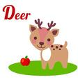 DeerLetter vector image vector image