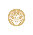 dove and the flame and praying hands vector image vector image