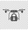 Drone Drop Cargo Grainy Texture Icon vector image vector image