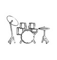 drum plate music instrument vector image vector image