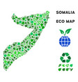 eco green composition somalia map vector image vector image