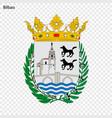 emblem of bilbao city of spain vector image vector image