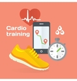 Everyday cardio training concept flat icons set of vector image vector image