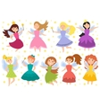 Fairy princess adorable characters vector image vector image