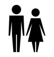 family couple silhouette avatars vector image vector image
