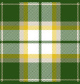 green and yellow tartan plaid seamless pattern vector image vector image