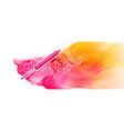 happy holi pichkari and watercolor flow banner vector image vector image