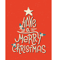 Have a Merry Christmas lettering in shape of tree vector image vector image
