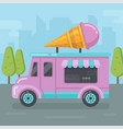 ice cream van flat vector image