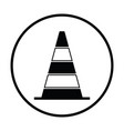 icon of traffic cone vector image vector image