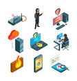 icon set of internet security web protection vector image vector image
