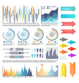 infographics with arrowheads charts information vector image vector image