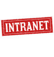 intranet sign or stamp vector image
