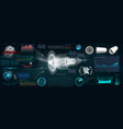 jet engine 3d isometric of airplane in hud style vector image
