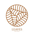 linear icon of landscape with three leaves in vector image vector image