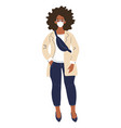 modern african american girl student standing vector image