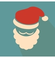 Nice face of santa claus on blue background vector image vector image