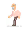 old grandfather with a wand vector image