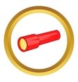 Red flashlight icon vector image vector image