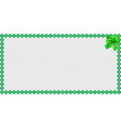 saint patricks day rectangle bordering with vector image vector image