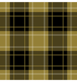 seamless gold black tartan with stripes vector image