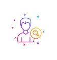 search user line icon male profile sign vector image