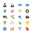 SEO Development Flat Icons color vector image vector image