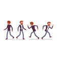 set of male manager in walking running poses vector image