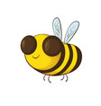 smiling bee cartoon vector image