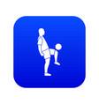 soccer player man icon digital blue vector image