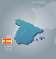 spain information map vector image vector image