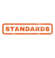 Standards Rubber Stamp vector image vector image
