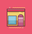 store icon set of great flat icons use for vector image vector image