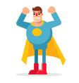superhero cartoon figure vector image vector image