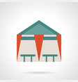 tent cafe flat color icon vector image
