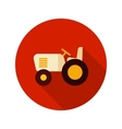 Tractor flat icon with long shadow vector image vector image