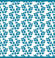 turquoise twig pattern vector image vector image