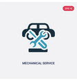 two color mechanical service a car icon from vector image