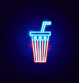 usa drink neon sign vector image vector image