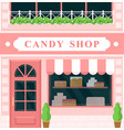 vintage candy shop confectionery house building vector image vector image