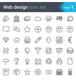 web design seo and development thin line icons vector image